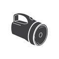Flat black flashlight icon Royalty Free Stock Photo