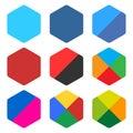 Flat Blank Rounded Hexagon Ico...