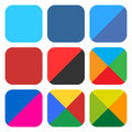 Flat Blank Rounded Square Icon...