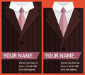 Flat business card template with brown jacket vector illustration in eps Stock Images