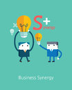 Flat business character series business synergy concept Royalty Free Stock Photos