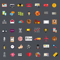 Flat Business Icon Set Stock Photos