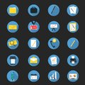 Flat Business Icon Set Vector Illustration
