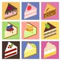 Flat cakes set