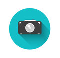 Flat camera Royalty Free Stock Photography