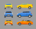 Flat car vehicle type design sign technology style vector generic classic business illustration isolated.