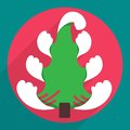 Flat christmas tree icon for web and mobile icons applications Stock Image