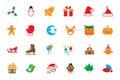 Flat Christmas Vector Icons 2