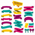 Flat Colorful Blank Ribbons Collection