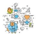 Flat colorful design concept for Medicine.