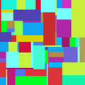 Flat colorful pattern with chaotic rectangles