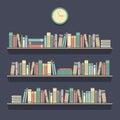 Flat Design Bookshelves