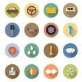 Flat design of Car service icons set