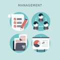 Flat design concept of business management or finance workflow theme Stock Image