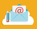 Flat design concept email write icon vector illustration eps Stock Photos