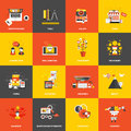 Flat design concept icons Royalty Free Stock Photo