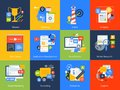 Flat design concept icons. Royalty Free Stock Photo