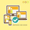 Flat design concept of responsive design fully user interface on any device Royalty Free Stock Photos