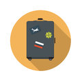 Flat Design Concept Suitcase Vector Illustration Royalty Free Stock Photo