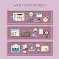 Flat design concept of web development programming Royalty Free Stock Photography