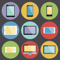 Flat design device icons vector Royalty Free Stock Images