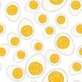 Flat design eggs seamless pattern background. Royalty Free Stock Photo