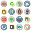 Flat design green concept icons illustration Stock Images