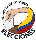Hand Voting with Tricolor Flag and Promoting Colombian Elections, Vector Illustration