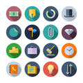Flat design icons for business vector illustration eps transparent shadows Royalty Free Stock Photo