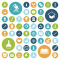 Flat design icons for education, science and medical Royalty Free Stock Photo