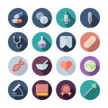 Flat design icons for medical and health care vector illustration eps transparent shadows Royalty Free Stock Image