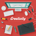 Flat Design Illustration: Crea...