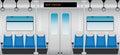 Flat Design of Inside Metro Passenger train