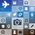 Flat design interface icon set illustration eps Stock Photography