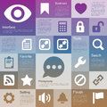 Flat design interface icon set illustration eps Royalty Free Stock Images