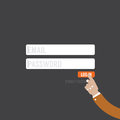 Flat Design Member Login Website Form. Royalty Free Stock Photo
