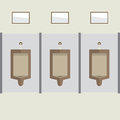 Flat Design Men's Urinal Row