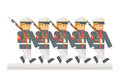 Flat design military parade Royalty Free Stock Photo