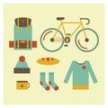 Travel set outdoor equipment for tourism