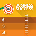 Flat design modern vector illustration infographic concept of digital marketing media concept, Success