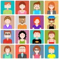 Flat design people icon illustration of Stock Image
