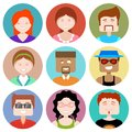 Flat design people icon illustration of Royalty Free Stock Photography
