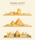 Flat design pyramid in Egypt Royalty Free Stock Photo