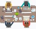 Plano diseño estilo de oficina obrero
