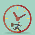 Flat design style businessman hurry within Royalty Free Stock Photo