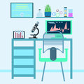 Flat design style modern vector illustration icons set of scienc Royalty Free Stock Photo