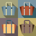 Flat design tote bags vector illustration Stock Image