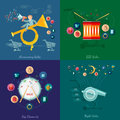 Flat design vector illustration concepts of sale and business annuncing big discounts night big Royalty Free Stock Photo