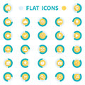 Flat design vector illustration icons set for web isolated on white background Royalty Free Stock Photos