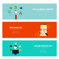 Flat designed banners Royalty Free Stock Photo